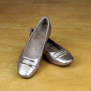 Clarks artisan Gold Flats with Buckle size 7.5